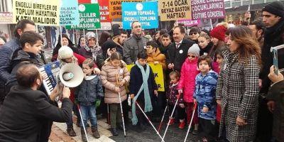 11 Ocak Beyaz Baston Farkındalık Yürüyüşü